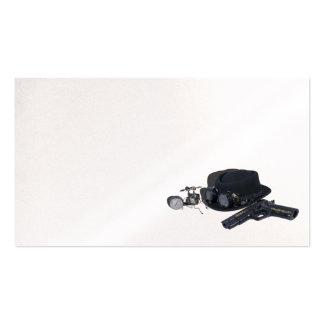 Gun goggles hat steam gadget business card