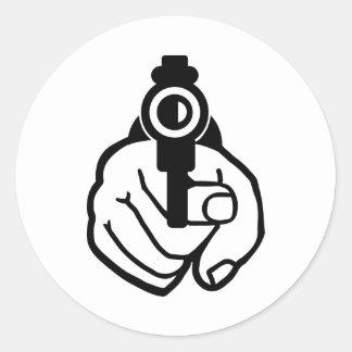 Gun hand sticker