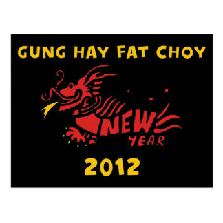 Gun Hay Fat Choy 2012 Gift Postcard