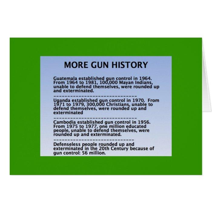 gun history card