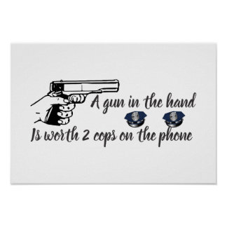 Gun In Hand Worth More Than Cops on Phone Poster