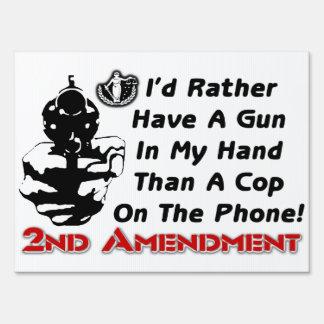 Gun In My Hand! Yard Sign