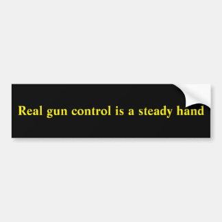 Gun incident bumper sticker