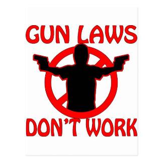 Gun Laws Don't Work Postcard