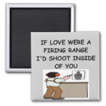 gun lover 2 inch square magnet
