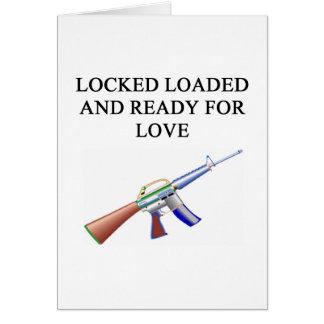 gun lover's joke greeting card