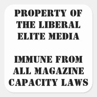 Gun magazine immunity sticker