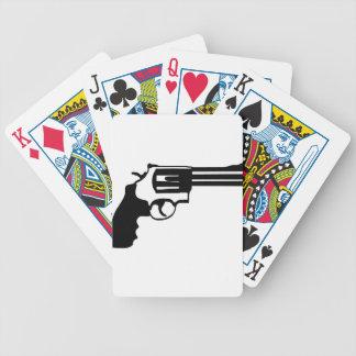 Gun magnum 38 spécail bicycle playing cards