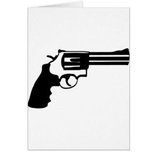 Gun magnum 38 spécail greeting card