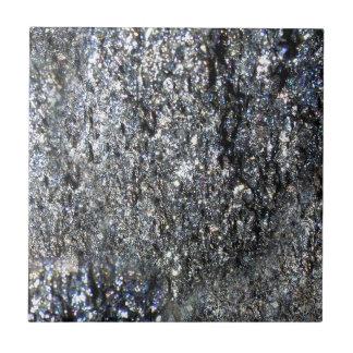 Gun Metal Sparkling Crystal Mineral Stone Ceramic Tile