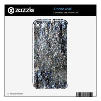 Gun Metal Sparkling Crystal Mineral Stone iPhone 4 Skin