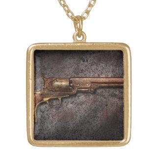 Gun - Model 1851 - 36 Caliber Revolver Gold Plated Necklace