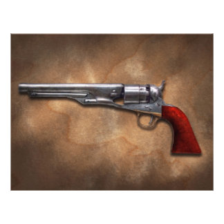 "Gun - Model 1860 Army Revolver 8.5"" X 11"" Flyer"