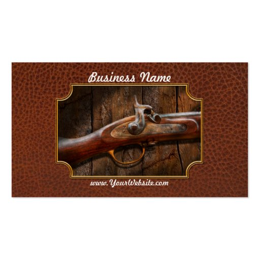 Gun - Musket - London Armory Business Card Templates