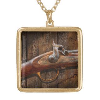 Gun - Musket - London Armory Gold Plated Necklace