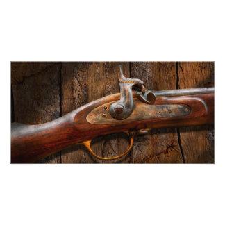 Gun - Musket - London Armory Personalized Photo Card
