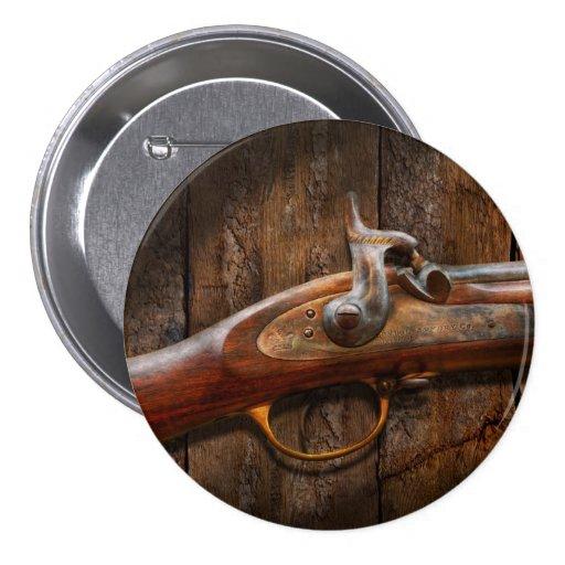 Gun - Musket - London Armory Pinback Buttons