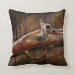 Gun - Musket - London Armory Throw Pillows