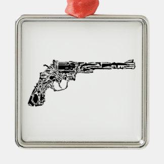 Gun of Guns Square Metal Christmas Ornament