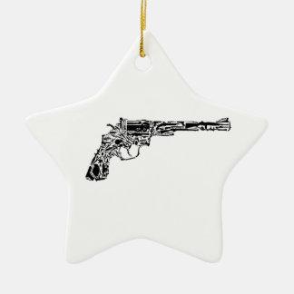 Gun of Guns Double-Sided Star Ceramic Christmas Ornament