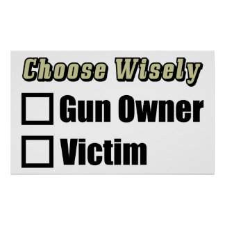 Gun Owner Or Victim Poster
