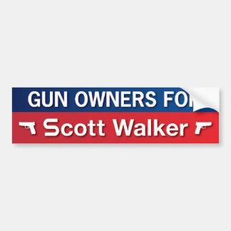 Gun Owners for Scott Walker Car Bumper Sticker
