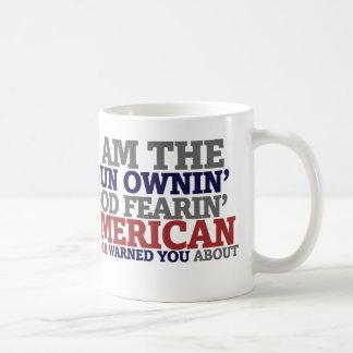 Gun Ownin' God Fearing American Classic White Coffee Mug