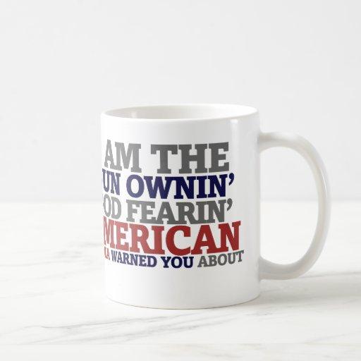 Gun Ownin' God Fearing American Mug