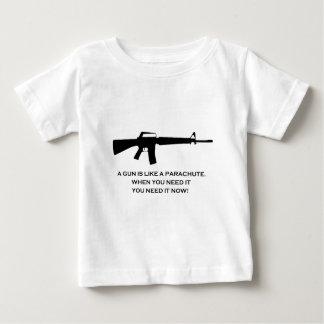 gun parachute baby T-Shirt