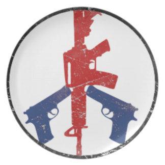 Gun Peace Sign by U.S. Custom Ink Plate