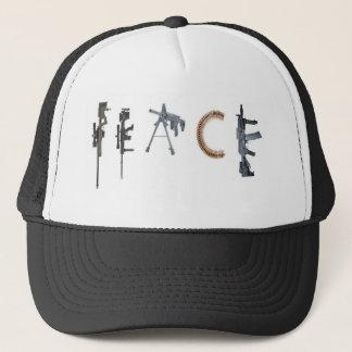 gun peace trucker hat