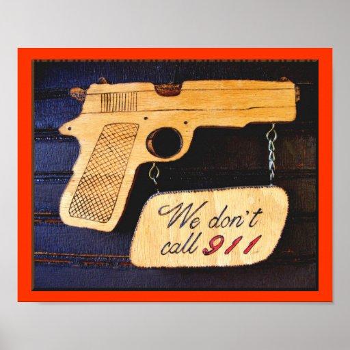 Gun Poster Sign
