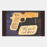 Gun Rectangle Stickers
