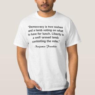 2551fc10 Democracy T-Shirts - T-Shirt Design & Printing | Zazzle