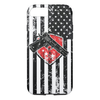 Gun Rights Distressed American Flag iPhone 7 Case