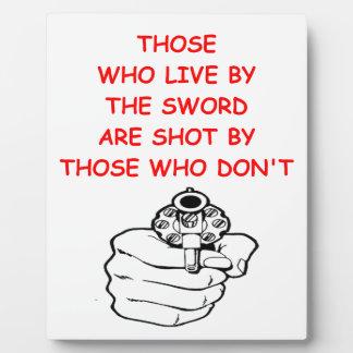 gun rights photo plaques