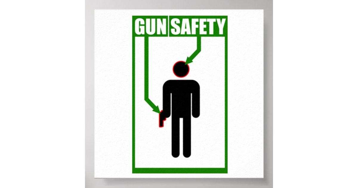 gun safety poster zazzle. Black Bedroom Furniture Sets. Home Design Ideas