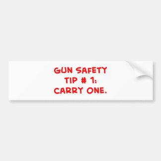 gun safety tip #1 bumper sticker