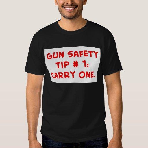 gun safety tip #1 t-shirt