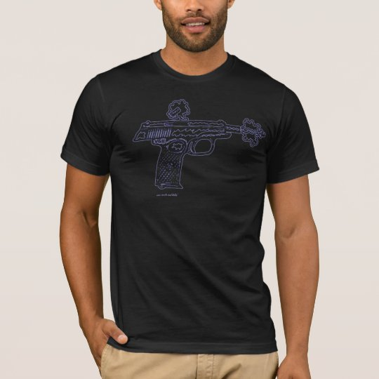 Gun shooting graphic art urban t-shirt design