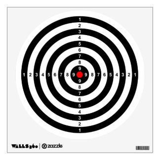 Gun Shooting Range Bulls Eye Target Symbol Wall Decal