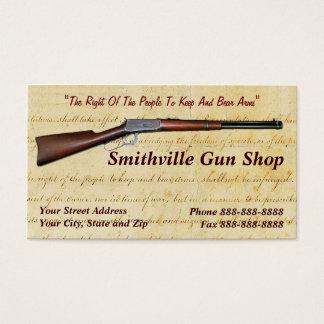 Gun Shop Collector Business Card