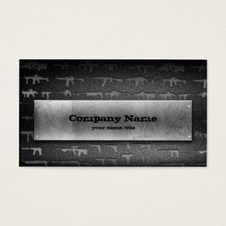 Gun Shop Grey Stone Business Card