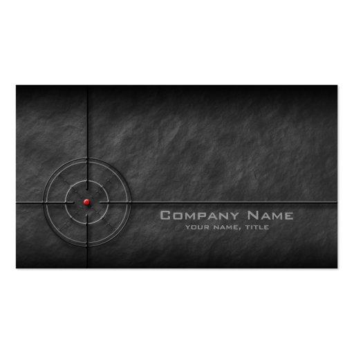 Gun Shop Target Business Card