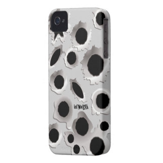 Gun Shots Holes Funny iPhone 4 Case