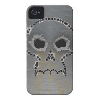 Gun Shots Holes Gothic Skull iPhone Case iPhone 4 Covers