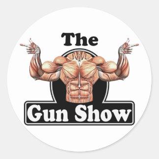 Gun Show Classic Round Sticker