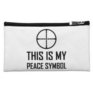 Gun Site My Peace Symbol Cosmetic Bag