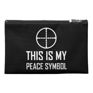 Gun Site My Peace Symbol Travel Accessory Bag