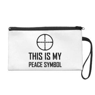 Gun Site My Peace Symbol Wristlet